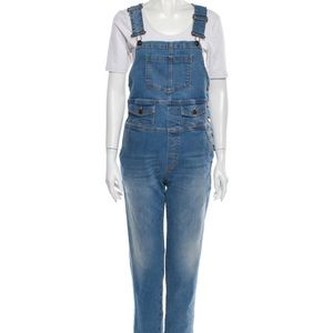 Fiorucci Bobby Overalls Safety Jeans 26 Blue EUC